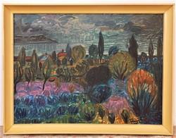 Fenyő Andor Endre (1904-1971) Balatonpart olajfestménye