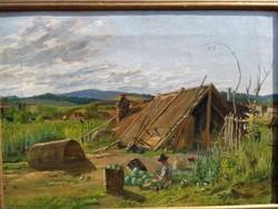 Antik 1900 as évek elejei magyar festő!