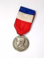 Francia ezüst kitüntetés.