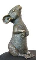 Bronz egér szobor