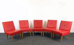 0E679 Retro design piros klubfotel 5db