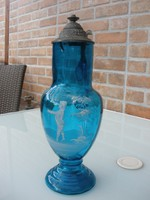 Antik ónfedeles hatalmas üvegkancsó