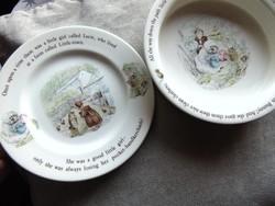 Beatrix Potter mesevilága - gyerek porcelán