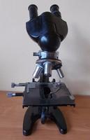 Ritka Carl Zeiss Jena Binokuláris Mikroszkóp