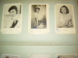 Sztárfotó gyűjtemény Myrna Loy, Magda Schneider, Sonja Henie stb.