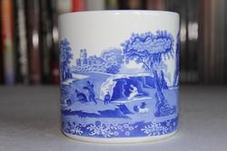 Nagy kerek porcelán tégely - Copeland Spode 'Blue Italian'