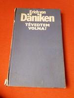 Könyv, eredeti aláírással /Érich von Deniken/