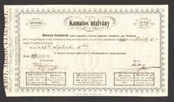 500 forint kamatos utalvány 1848. UNC!! EXTRA RITKA!!
