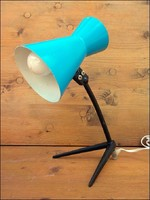 Retro babakék asztali lámpa