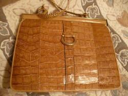 Szép régi krokodilbőr női táska