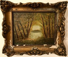 L. De Paál - Fontainbeau-i erdő (1877)