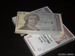 3 KÖTEG x 100 db UNC BANKJEGY,SORSZÁMKÖVETŐ RITKA BANKJEGYEK, ÉRTÉKES HORVÁT AJÁNDÉK