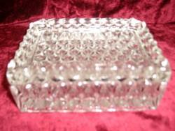 Csiszolt üveg fazettált ékszertartó