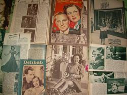 Muráti Lili rajongóinak régi újságok, kivágások
