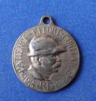 I. világháborús francia medál 1914-1918