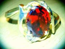 Rubintos fényű Cz.köves Silver Plated Gyűrű