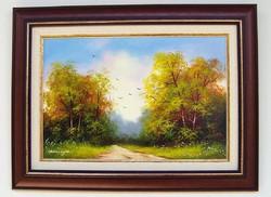 Szeptember végén KERETEZETT Obermayer festmény