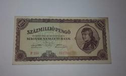 Százmillió Pengő 1946-os ropogós szép állapotban!
