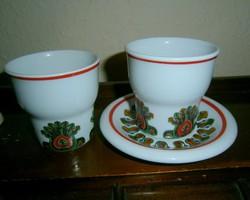 3 db Hollóházi porcelán