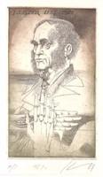 Kass János - Lister 19x11 cm rézkarc
