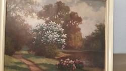 Torday Székely Mihály olaj vászon festménye