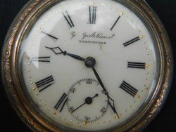 Ezüst zsebóra.1890 körül.Hibátlan.Működik.