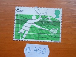 ANGOL ANGLIA 8 -1/2 P 1977 100 éves a Wimbledoni teniszverseny NEM FIRKÁLÁS B430