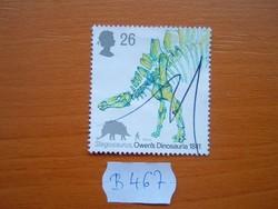 """ANGOL ANGLIA 26 P 1991 """"dinoszaurusz"""" Stegosaurus B467"""