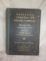Gazdasági tőzsdei kompasz könyv 1947-48 év