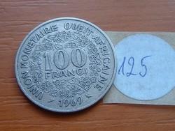 NYUGAT AFRIKAI ÁLLAMOK 100 FRANK FRANCS 1969 (a) FAO  125.