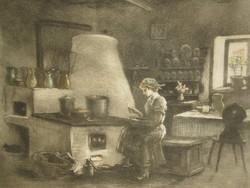 Paulovits Pál (1892 - ) : Konyhában