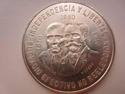 1960 Mexikó 5 peso ezüst érme 28,88g 0,900AG Liberdad Hidalgo - Madero