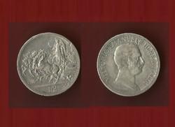 Olasz 2 líra 1916 ezüst