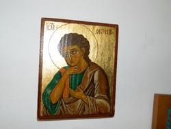 Szigeti Erzsébet ikonfestő kézzel festett másolat eredeti technikával TEOLOGUS Sz. János
