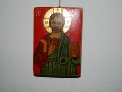 Szigeti Erzsébet ikonfestő kézzel festett másolat eredeti technikával : KRISZTUS PANTOKRATOR
