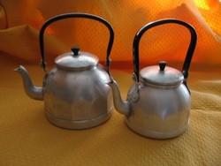 2 db retro alumínium teás kanna, vízforraló egyben