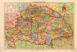 Nagy - Magyarország térkép, kiadva 1934, atlasz, megye, 1930-as évek, régi, eredeti, politikai