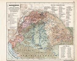 Magyarország térkép 1606, A bécsi béke korában, kiadva 1913, atlasz, eredeti, Kogutowicz Manó