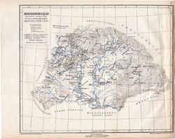 Magyarország térkép 1038, Szent István halálakor, kiadva 1913, atlasz, régi, eredeti, Kogutowicz