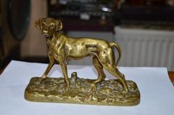 Réz kutya figura