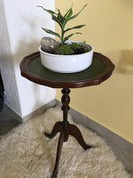 Gyönyörű kecses mahagoni virágtartó,kis asztal,lerakó