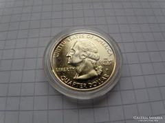 Negyed  dollár USA Pennsylvania 24. k aranyozott (13)