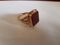 14K arany barokk pecsétgyűrű