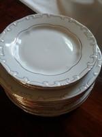 15 db tollazott Zsolnay porcelán tányér