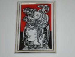 SZÁSZ ENDRE: Porcelán kép