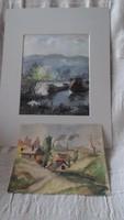Akvarellek párban