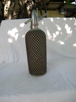 Antik Szódásszifon 1929 fémfonatos
