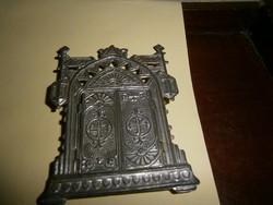 Antik szentképtartó  fémből -2 nyitható ablakkal
