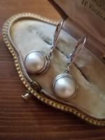 Ezüst gyöngyös fülbevaló patentokkal  Ag 925