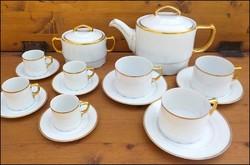 """Antik bieder Louise aranyozott """" teás- kávés készlet """""""